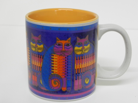 Laurel Burch Cat Mug - blue
